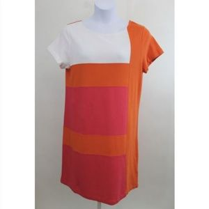 Joan Vass Block Shift Dress